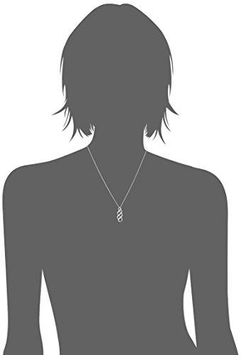 Sterling Silver Diamond Twist Pendant Necklace (1/10 cttw), 18