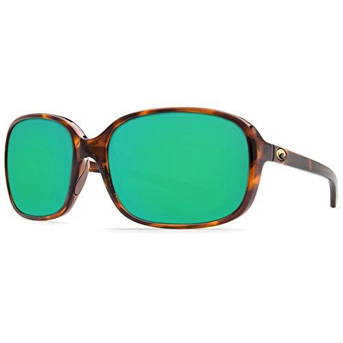 (Costa Del Mar RVT10OGMP Riverton Sunglass, Shiny Tortoise Frame Green Mirror)