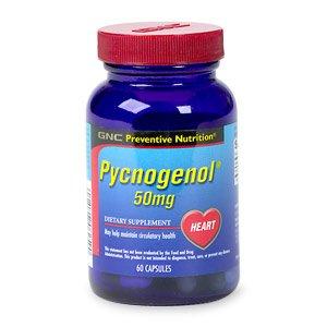 GNC Preventive Nutrition Pycnogenol 50mg 60 Capsules