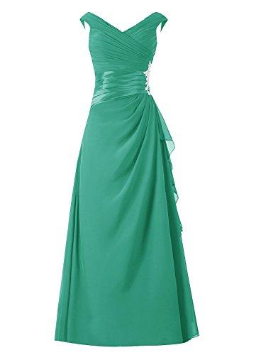 de col V de de robe demoiselle sans Dresstells robe manches soire mre en d'honneur longue Vert de marie robe 0OAwPZqwF