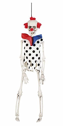 Boland 72112 Decorations Skeleton Clown, 40 cm