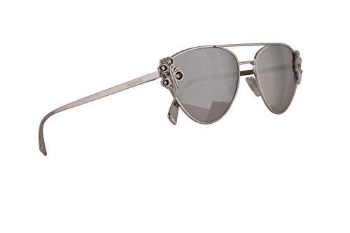 Versace VE2195B Sunglasses Silver w/Light Grey Mirror Silver Lens 56mm 10006G VE2195-B VE 2195B VE ()
