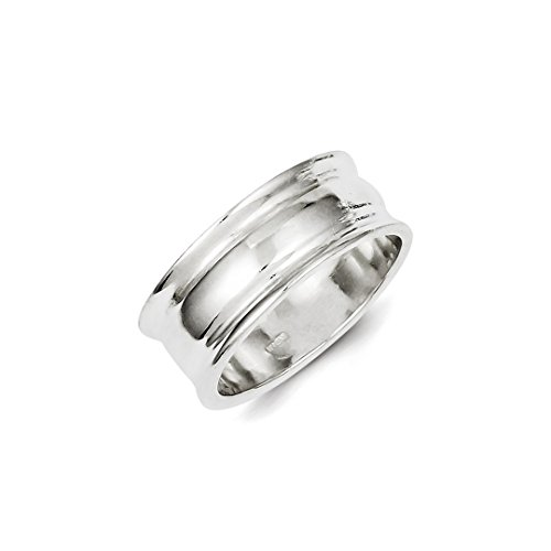 ICE CARATS 925 Sterling Silver Ridged Edge Band Ring Size 9.00 Man Fine Jewelry Dad Mens Gift Set - New Sterling Silver Ridged Band