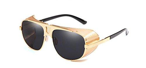 Grise en inspirées Complète soleil polarisées du Pièce retro style vintage Lennon cercle rond métallique lunettes de t6zqnwzf