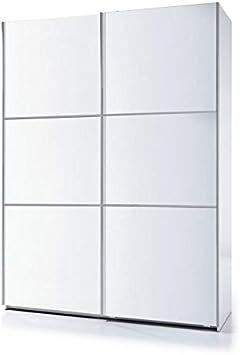 SERMAHOME- Armario 2 Puertas correderas. Color Blanco Brillo ...