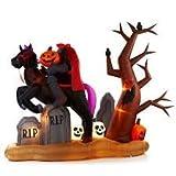 Gemmy 9ft X 7 Ft Halloween Animated Headless Horseman Graveyard Airblown Inflatable Rare!