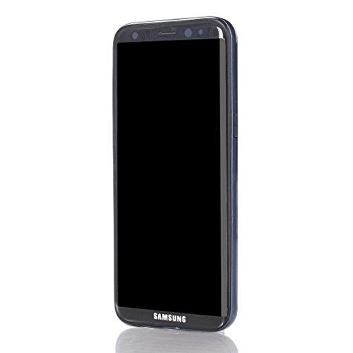 Galaxy S8 Cover Funda, YHcase Híbrido caja de la armadura para el teléfono,resistente a prueba de golpes contra la lucha de viaje accesorios esenciales del teléfono per Samsung Galaxy S8 -Gold Blue