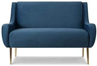 Sandy Wilson Home Corina Settee, Satin Teal