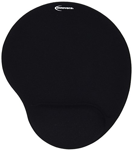 Innovera Mouse Pad with Gel Wrist Pad, Nonskid Base, 10-3/8 x 8-7/8 Inches, Black (50448) from Innovera