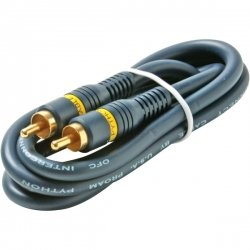 100' Python Home Theater RCA-RCA Video Cables