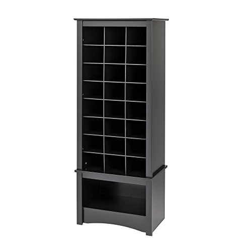 Prepac Black Tall Shoe Cubbie Cabinet (Prepac Large Four)