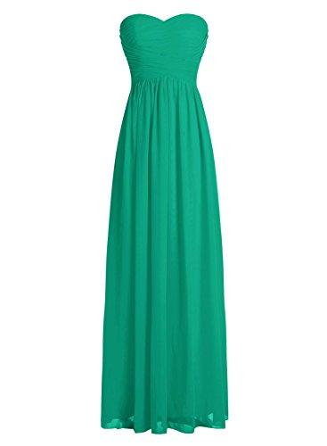 Dressystar Robe de demoiselle d'honneur/de soirée longue formelle Taille 56 Vert