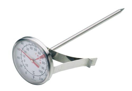 KitchenCraft - Termometro para Leche de Acero Inoxidable