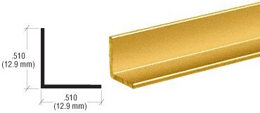 CRL Buffed Brite Gold Anodized 1/2