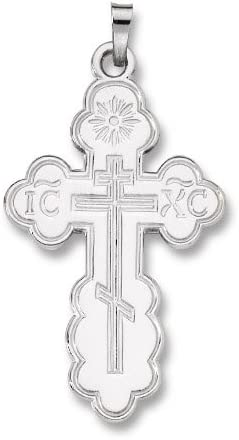 Pendant Sterling-silver Orthodox St. Olga Cross