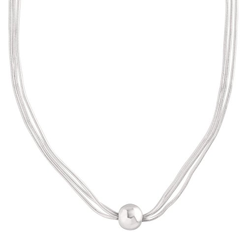 Silpada 'Thoreau' Multi-Strand Bead Necklace in Sterling Silver