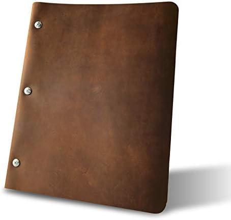 Murdy Leather Binder Slim Espresso