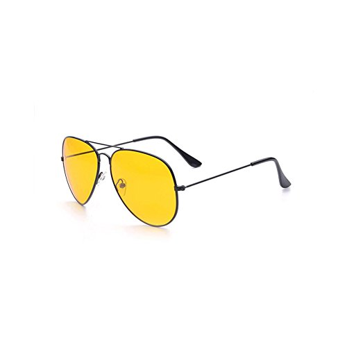 GAMT Headlight Night Vision Driving Glasses Aviator Nighttime Sunglasses Black - Time Sunglasses Night