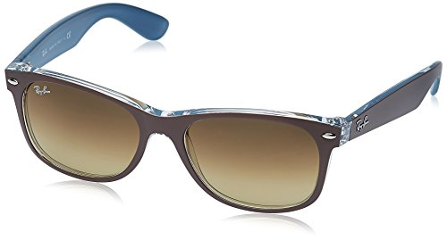 Ray-Ban NEW WAYFARER - TOP MT CHOCOLATE ON BLUE Frame LIGHT BROWN GRAD DARK BROWN Lenses 55mm - Ray 2015 New Sunglasses Ban