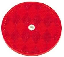 100 Red Round Reflector Truck Trailer 3-3//16 REF3316R