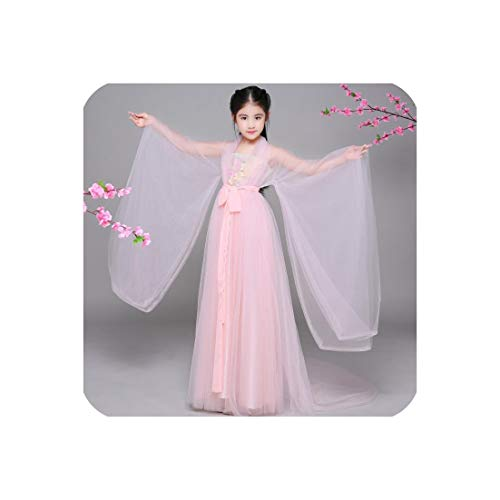 Chinese Ancient Costume Princess Costume Ancient Chinese Hanfu Dress Costume,Pink,XXL -