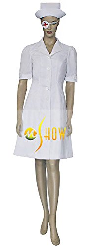 Mtxc Women's Kill Bill Vol. 1 Cosplay Elle Driver Nurse Uniform Size Medium (Elle Driver Costume)