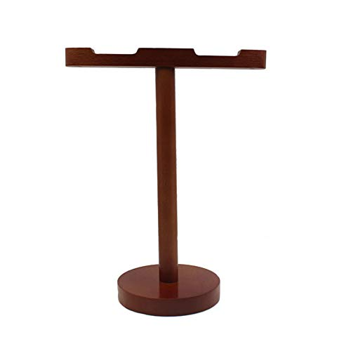 Wooden Headphone Stand - Dual Headset Mount Headphone Holder Hanger for All Headphones (Bronzer)