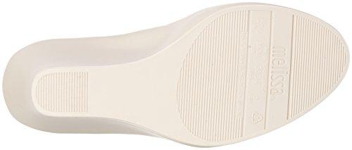 Melissa Queen Wedge III AD - Zapatos de cuñas Beige (BEIGE/BURGUNDY 52793)