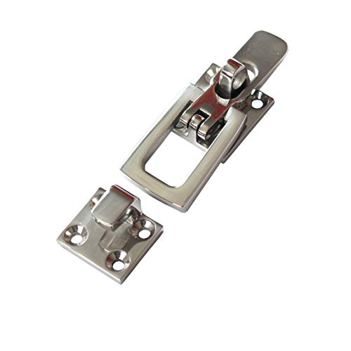 Orgrimmar 316 Stainless Steel Lockable Latch Marine Boat Door Lock Latch Anti-Rattle Fastener Clamp