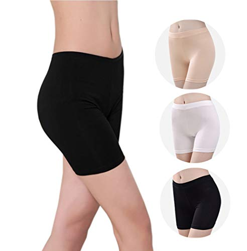 Oulinect Womens 3 Pack Anti Chafing Short Leggings Modal Panties Boyshorts Undershorts M ()