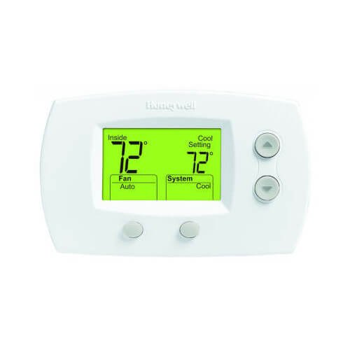 9 Focuspro 5000 Non-Programmable 2 Heat and 2 Cooling Thermostat, Large Screen ()