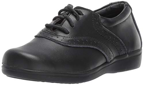 Leather Erin (School Mates Girls' Erin School Uniform Shoe, Black, 10 Medium US Toddler)