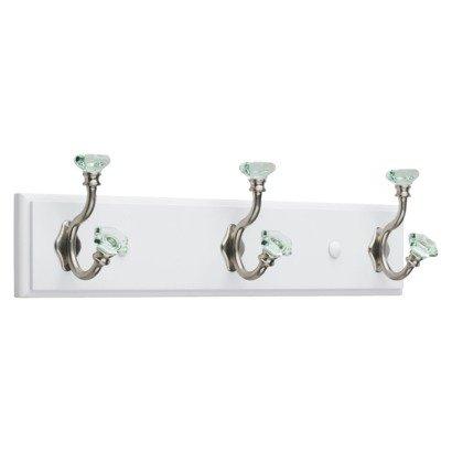 Target Home perchero de acrílico facetas (– blanco y níquel satinado y verde (16