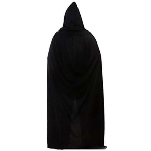 23e23a22c durable service HuntGold - Capa larga con capucha para disfraz, color negro
