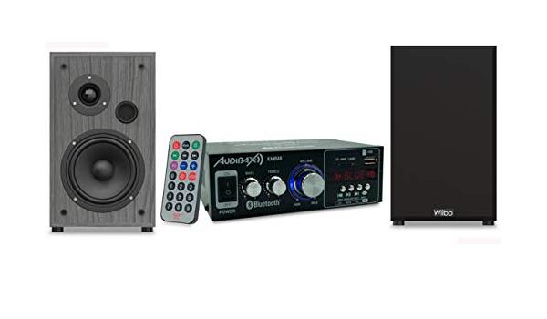 Audibax Equipo HiFi Bluetooth Kansas 40+40W + Altavoces ...