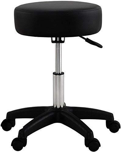 (Global Group Adjustable Stool Chair Black with Wheels - Comfort SPA Tattoo Salon Stool - Hydraulic Rolling Chair - 18-24 inch - Plus Bonus Exclusive eBook)