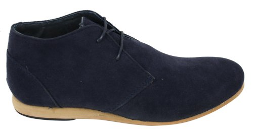 Mens Black Beige Brown Navy Desert Boots Shoes Suede High Top Ankle Chelsea Navy iAQtR