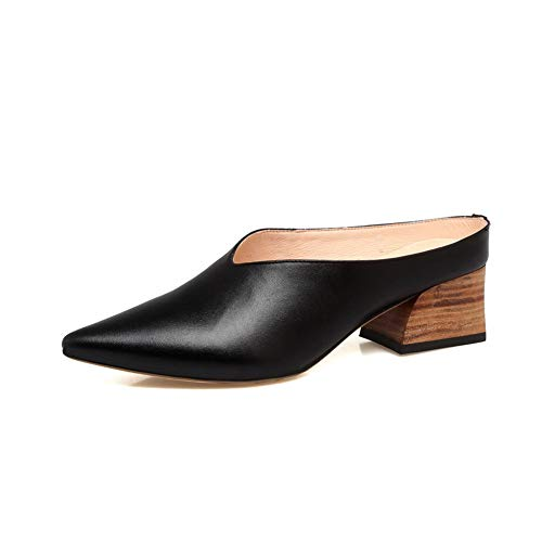 BalaMasa Womens Dance-Ballroom Solid Travel Urethane Pumps Shoes APL11193 Black