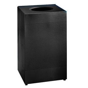 Rubbermaid Commercial FGSR14ERBTBK Silhouette Designer Wastebasket, Rectangular, 25-gallon, (Rubbermaid Commercial Designer Line)