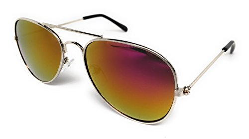 WebDeals - Little Children's Kids Classic Aviator Sunglasses Metal Frame Ages 2 to 5 (Silver, - Aviator Sunglasses Cute