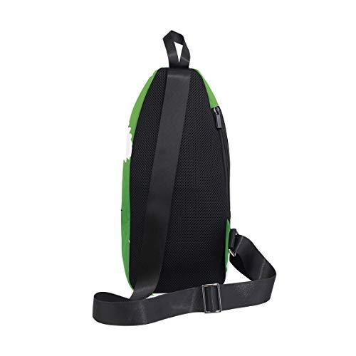 Backpack amp; Chest Men Leaf Women Bags Bag Shoulder Green Bennigiry Sling Marijuana For One Crossbody qOwf7XvS
