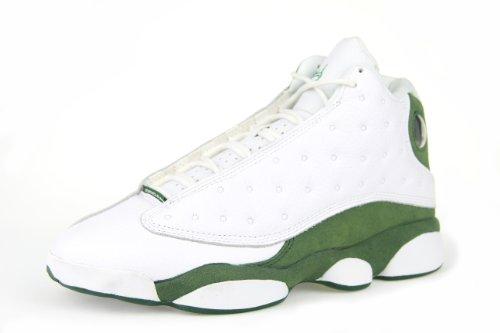 "1ae6aeed02cb51 Man s Nike Air Jordan 13 xiii Retro ""Ray Allen Pe"" 2011 White   Clover  414571-125 ..."