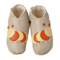 Daisy Roots Caterpillar en color beige zapatos de bebé suave piel (tamaño 0A 6meses)