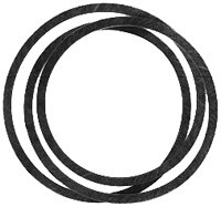 - Lawn Mower PTO Deck Drive Belt Replaces CUB CADET 	490489-R2
