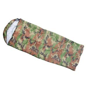 Campo Ultralight Rectangular Synthetic Sleeping Bag Camouflage with Hood and Carrying Bag (SY-66 US), Outdoor Stuffs