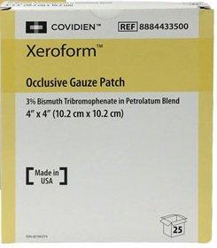 Xeroform Dressing 4X4 Sterile 25Ea/Bx
