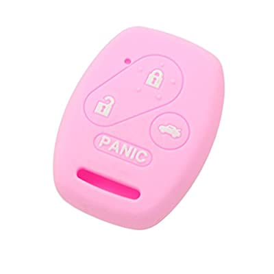 SEGADEN Silicone Cover Protector Case Skin Jacket fit for HONDA 3+1 Button Remote Key Fob CV2206 Pink: Automotive