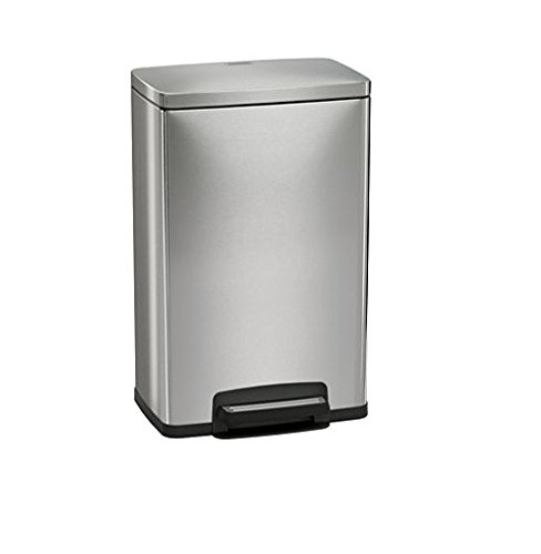 Tramontina Step on Waste Can, Stainless Steel Trash Can Step Can 13 Gallon Large Capacity (1 Trash Can) (Tramontina Step Trash Can compare prices)