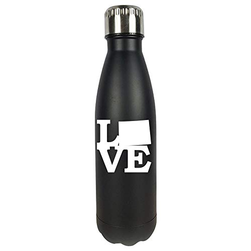Wyoming Pride USA State Love Map - Vacuum Sealed Water Bottle