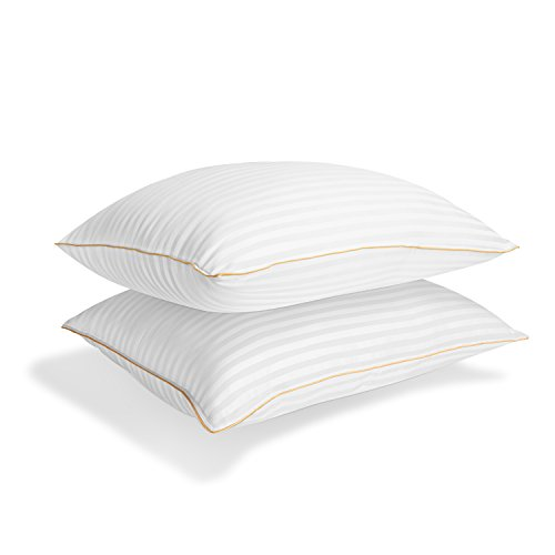 Italian Luxury Plush Gel Pillows 2100 Series (2-Pack) - Premium Quality Luxury Hotel Collection - Hypoallergenic & Dust Mite Resistant - King